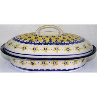 Ceramika Artystyczna Oval Covered Baker Size 2 Soho Garden