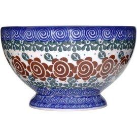Ceramika Artystyczna Pedestal Bowl Size 1 Lady Godiva Auburn