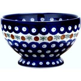 Ceramika Artystyczna Pedestal Bowl Size 1 Royal Cranberry