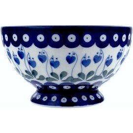 Ceramika Artystyczna Pedestal Bowl Size 1 Royal Hanging Hearts