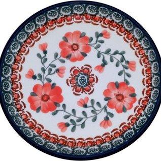 Ceramika Artystyczna Bread & Butter Plate Rose Tangerine