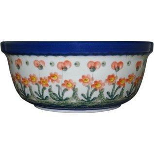 Ceramika Artystyczna Modern Bowl Size 2 Poppies Orange