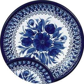Ceramika Artystyczna Dinner Plate Blue on Blue C Signature