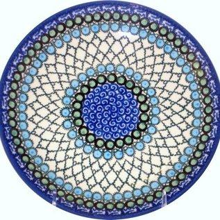 Ceramika Artystyczna Dinner Plate Geometric Ocean Signature