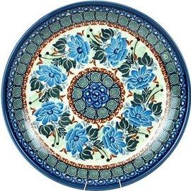 Ceramika Artystyczna Dinner Plate Grecian Rose Blue Signature