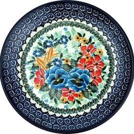 Ceramika Artystyczna Dinner Plate Viola Bouquet Signature