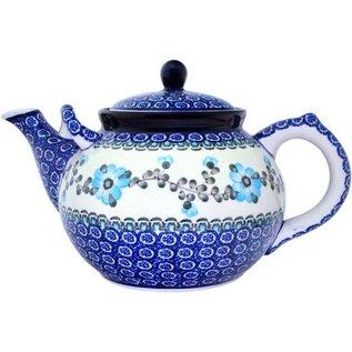 Ceramika Artystyczna Teapot Size 4 Rose Turquoise