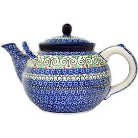 Ceramika Artystyczna Teapot Size 4 Stained Glass