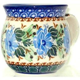 Ceramika Artystyczna Bubble Cup Small Grecian Rose Blue Signature