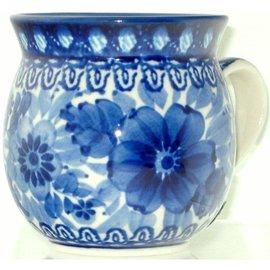 Ceramika Artystyczna Bubble Cup Small Blue on Blue Signature