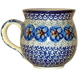 Ceramika Artystyczna Bubble Cup Medium Cottage Blue Slate Signature
