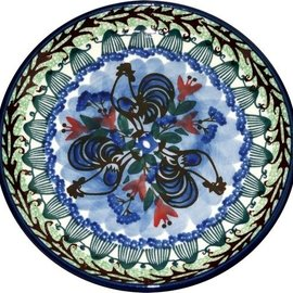 Ceramika Artystyczna Bread & Butter Plate Indigo Rooster Signature