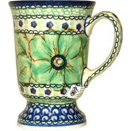Ceramika Artystyczna Pedestal Cup Cosmos Green Signature 4