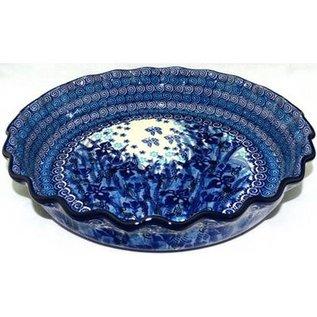 Ceramika Artystyczna Deep Pie Plate Midnight Gardens Signature