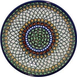 Ceramika Artystyczna Luncheon Plate Geometric Hazel Signature