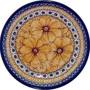 Ceramika Artystyczna Luncheon Plate Cosmos Tangerine Signature 4