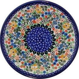Ceramika Artystyczna Luncheon Plate Butterfly Gardens Signature