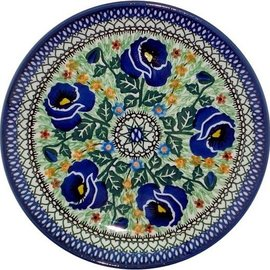 Ceramika Artystyczna Luncheon Plate Indigo Poppy Signature