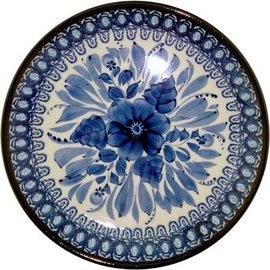 Ceramika Artystyczna Luncheon Plate Blue on Blue Signature