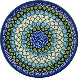 Ceramika Artystyczna Bread & Butter Plate Geometric Ocean Signature