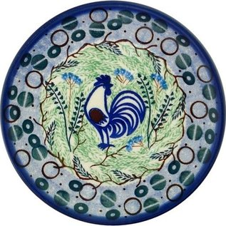 Ceramika Artystyczna Bread & Butter Plate Ivory Rooster Signature