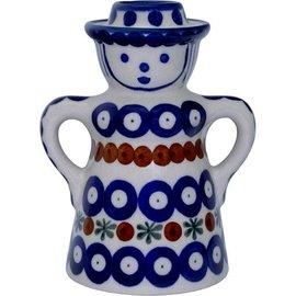 Ceramika Artystyczna Folk Candle Holder Lady Royal Cranberry