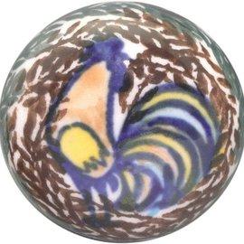 Ceramika Artystyczna Drawer Pull Sienna Rooster Signature