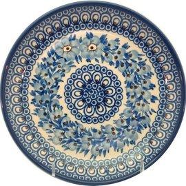 Ceramika Artystyczna Luncheon Plate Blue Marabou Signature