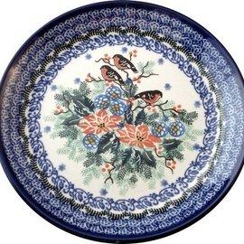 Ceramika Artystyczna Luncheon Plate Holiday Robins Signature