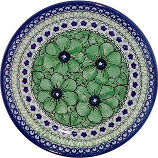 Ceramika Artystyczna Luncheon Plate Cosmos Green Signature 4