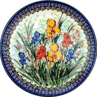 Ceramika Artystyczna Dinner Plate Iris Fields Signature