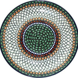 Ceramika Artystyczna Dinner Plate Geometric Hazel Signature