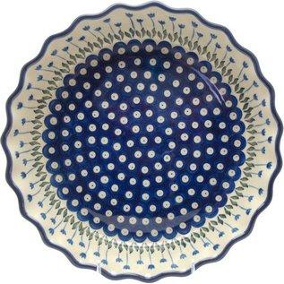 Ceramika Artystyczna Deep Pie Plate Royal Tulips