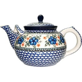 Ceramika Artystyczna Teapot Size 4 Apple Blossom Blue