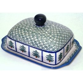Ceramika Artystyczna Domed Butter Dish Evergreen