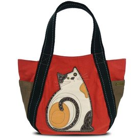 Chala Carryall Zip Tote Cat Orange