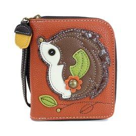 Chala Zip Around Wallet Hedgehog Orange