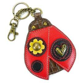 Chala Coin Purse Key Fob Ladybug
