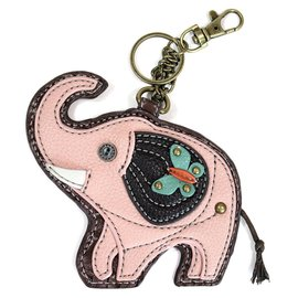 Chala Coin Purse Key Fob Elephant