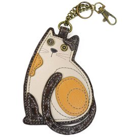 Chala Coin Purse Key Fob Cat