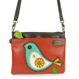 Chala Mini Crossbody Bird - Brick Red