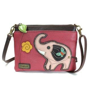 Chala Mini Crossbody Elephant - Dark Pink