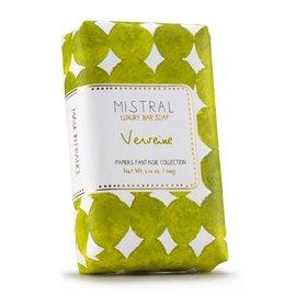 Mistral Mistral Bar Soap 100g Papiers Fantaisie Verbena
