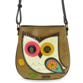 Chala Crossbody Owl Brown