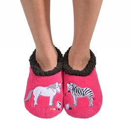 Snoozies Snoozie Splitz Horse and Zebra Pink
