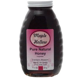 Maple Hollow Honey Cranberry Blossom Glass 18 oz.