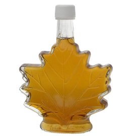 Maple Hollow Maple Syrup Large Glass Leaf 8.45 oz.