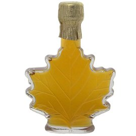 Maple Hollow Maple Syrup Medium Glass Leaf 3.4 oz.
