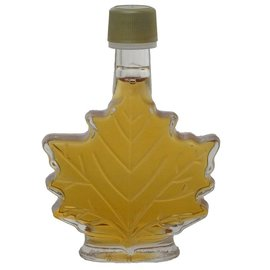 Maple Hollow Maple Syrup Small Glass Leaf 1.68 oz.