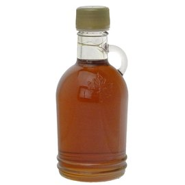 Maple Hollow Maple Syrup Round Embossed Leaf 8.45 oz.